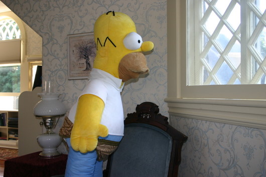 homer in skivvies