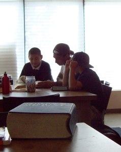 Josh tutoring at 826 Boston