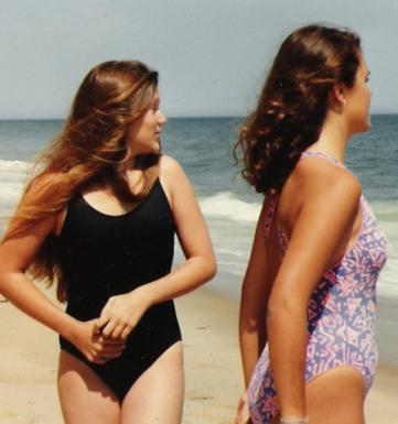 carrie & katy at the beach