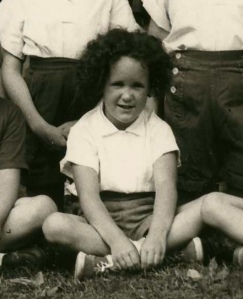 me at 5 with my problem hair