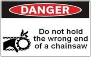 chainsaw warning label