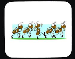 happy ants march together