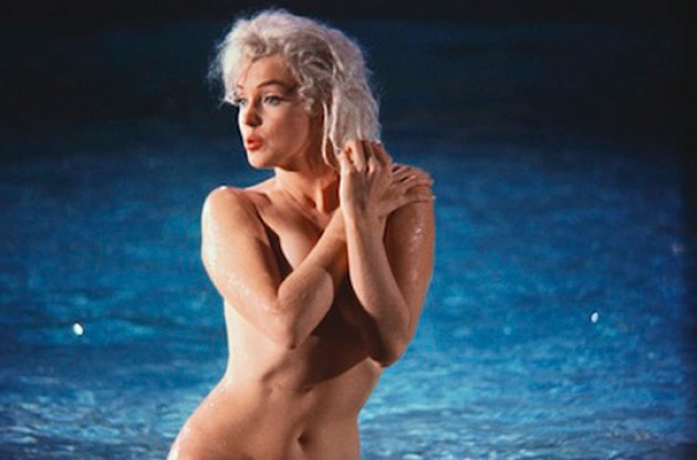 marilyn swimming