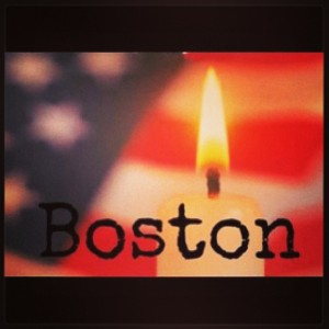 Boston candle for the victims
