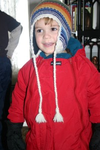 little david ready for the snow