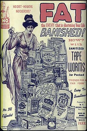 fat banishing tapeworms