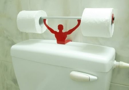 Strong Man Toilet Paper Roll Holder