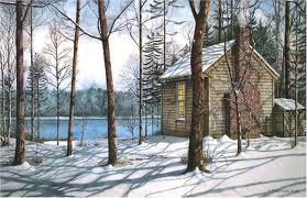 thoreau's cabin artist's rendering