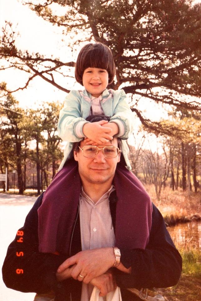 annie & her dad 1984
