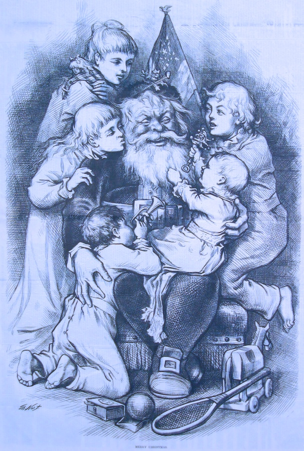 Santa's lap Thoams Nast