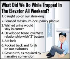 trapped in elevator