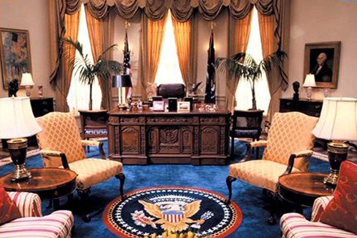My grudge against house of cards exit only Oval office decor by president