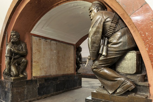 russian subway statues large